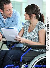 wheelchair, kobieta