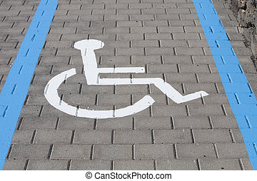 wheelchair, laan