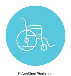 Wheelchair line icon. - Wheelchair line icon for web, mobile...