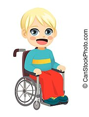 Wheelchair Little Boy