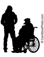 Wheelchair man one