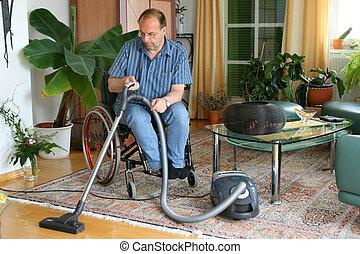 wheelchair, man