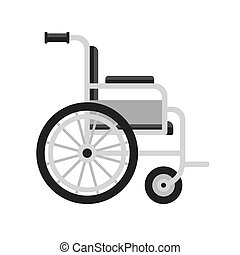 Wheelchair Medical Icon on White Background. Vector