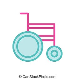 wheelchair medical line and fill style icon