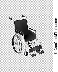 Wheelchair on transparent background