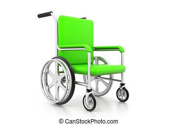 Wheelchair on white background
