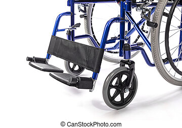 wheelchair on white background
