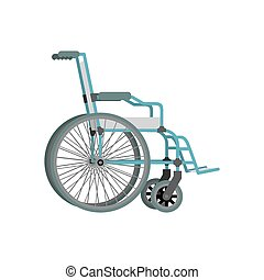 Wheelchair on white background.  Means of transportation for people who could not move.