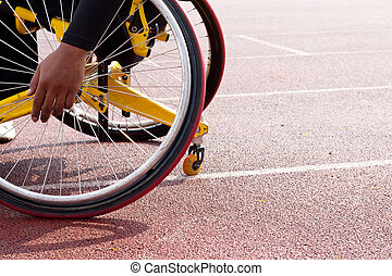 wheelchair sportsmen on track