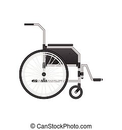 Wheelchair vector illustration isolated on white background