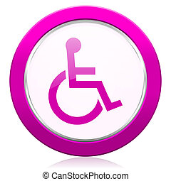 wheelchair violet icon