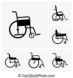Wheelchairs - Set of wheelchair icons