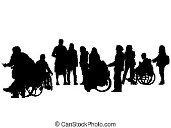 Wheelchairs people