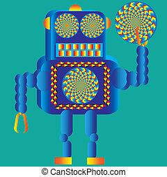 wheelie, 回転, ロボット