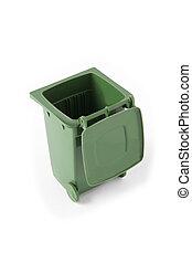 wheelie bin, verde