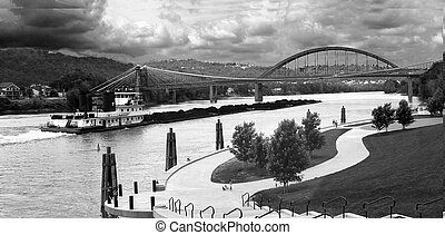 Wheeling Suspension Bridge - Historic Suspension bridge...