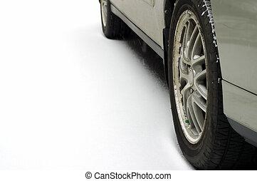 wheels, в, снег