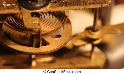 wheels and gears inside the old clock
