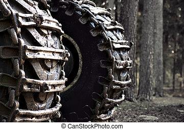 wheels of heavy vehicle