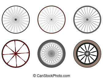 Wheels - Set of bicycle and other vehicle wheels.