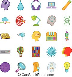 Wheeze icons set, cartoon style - Wheeze icons set. Cartoon...