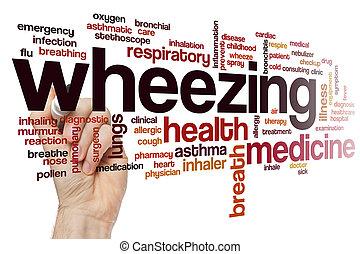 Wheezing word cloud