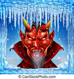 When Hell Freezes Over - When hell freezes over concept with...