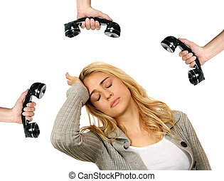 When Will the Calls Stop - Woman Stressed Over Telephone...