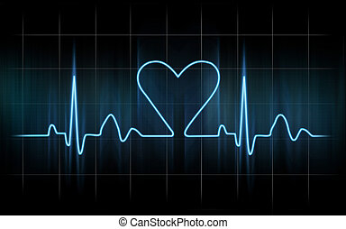 When you fall in love - Lovers heart cardiogram