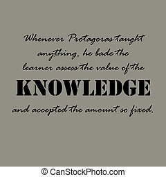 whenever, taught..., protagoras, quotes., aristotle