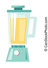 Whey protein shake in a blender vector cartoon. - Whey...