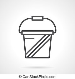 Whey protein simple line vector icon - Abstract symbol of...
