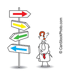 which direction - Joe wants to find a solution. you walk...