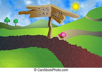 Which Way - Which way do you want to go - this way or that...
