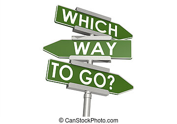 Which ways to go road sign