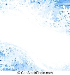 whie snow flakes - white snow flakes on a blue background