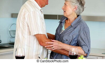 whil, couple, personne agee, ensemble, danse