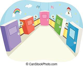 Whimsical Books Room Doors