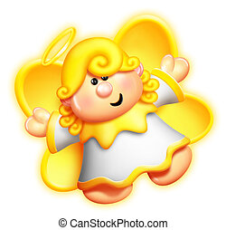 Whimsical Cartoon Angel