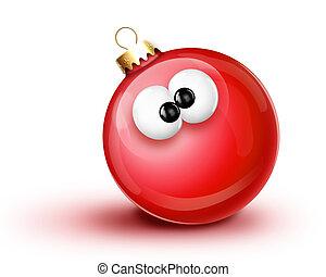 Whimsical Cartoon Christmas Ball