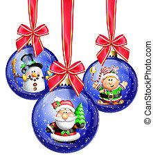 Whimsical Cartoon Christmas Balls
