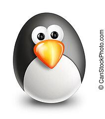 Whimsical Cartoon Christmas Penguin