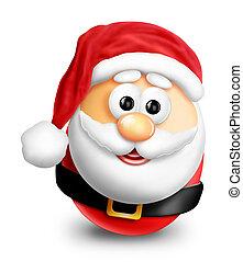Whimsical Cartoon Christmas Santa