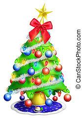 Whimsical Cartoon Christmas Tree