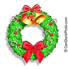 Whimsical Cartoon Christmas Wreath
