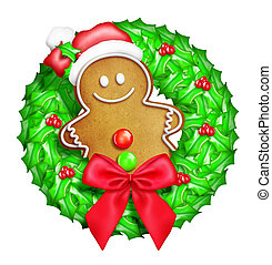 Whimsical Cartoon Gingerbread Man - Whimsical Cartoon...