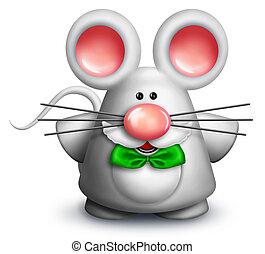 Whimsical Cartoon Mouse