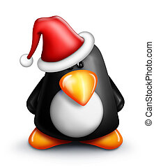 Whimsical Cartoon Penguin