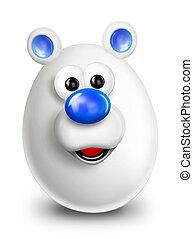Whimsical Cartoon Polar Bear