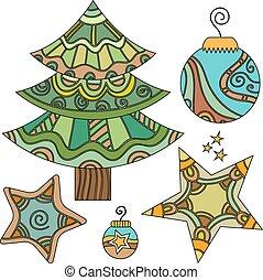 Whimsical Christmas graphics set